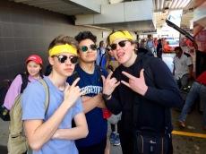 Alessio, Trevor, Dane at San Jose Airport