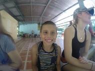 One of the local school children