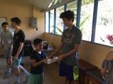 Offering school supplies