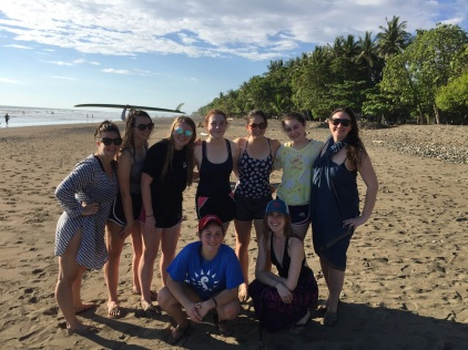 Convent students at the beach