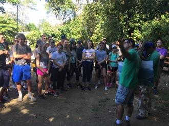 Ronald explains the history of Hacienda Barú